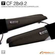 T-motor 28*9.2″ Carbon Fiber Propeller (pair, CW/CCW 4-blades) PROPS for UAV
