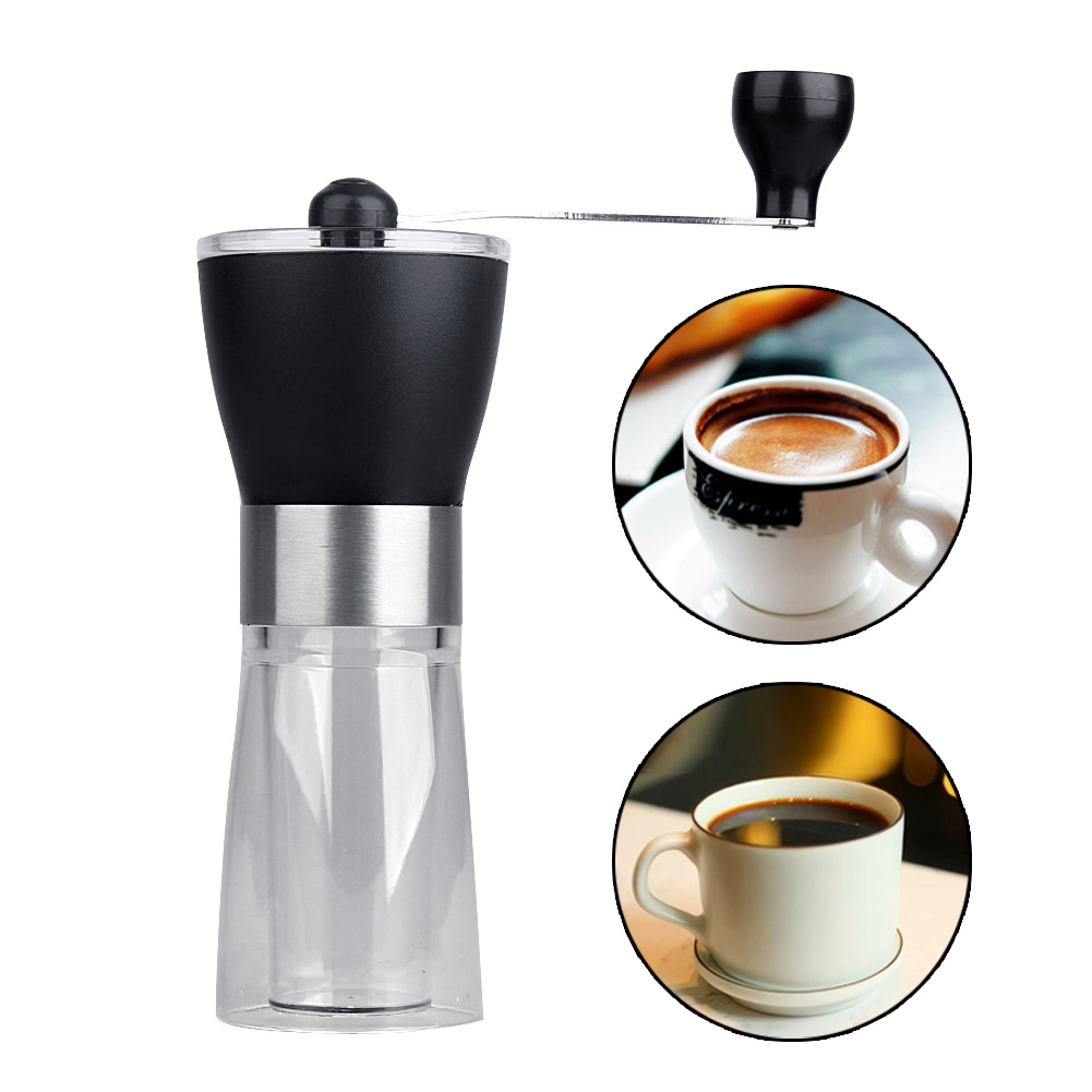 Tuansing Manual Ceramic Coffee Grinder Washable ABS Ceramic core Stainless Steel Home Kitchen Mini Manual Hand