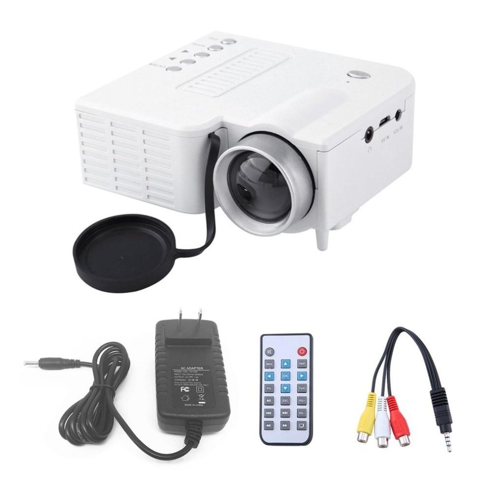 UC28A мини Портативный светодиодный проектор 1080 P Мультимедиа Домашний Кино Театр USB TF HDMI AV светодиодный проектор для дома применение