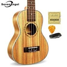 SevenAngel 23″ Concert Ukulele 4 AQUILA Strings Hawaiian Mini Guitar Uku Acoustic Guitar Ukelele 12 Patterns guitarra send gifts