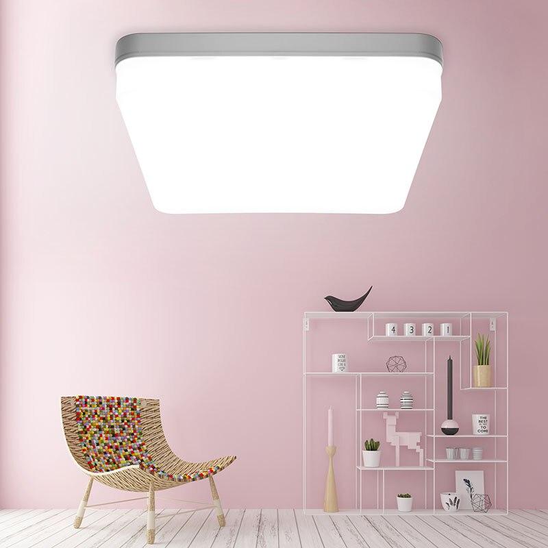 Éclairage moderne sur bas pour la maison, lampe ultrafine carré rond 6W 9W 18W 24W 36W 48W 85-265V
