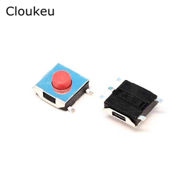6*6*3,1 мм SMD5 сенсорный Микро-переключатель Красный 6x6x3,1 H кнопочный переключатель 100 шт