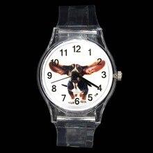Perro de grandes orejas divertido mascota novedad Animal niños de cuarzo, reloj de dibujos animados niño niña bebé joyería transparente relojes de pulsera deportivos