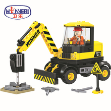 City Construction Team Pavement Crusher Building Blocks Sets Bricks Educational Model Kids Gifts Toys Compatible With Legoes цены