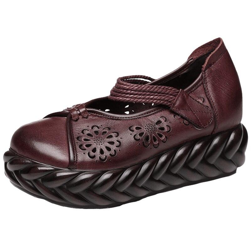 Noir rouge Out Occasionnels Plate Chaussures Cut À Pompes Printemps 2019 En gris Compensées Véritable La Talons Main Gktinoo Fretwork Cuir Femmes forme Hauts OBqRwFpF7