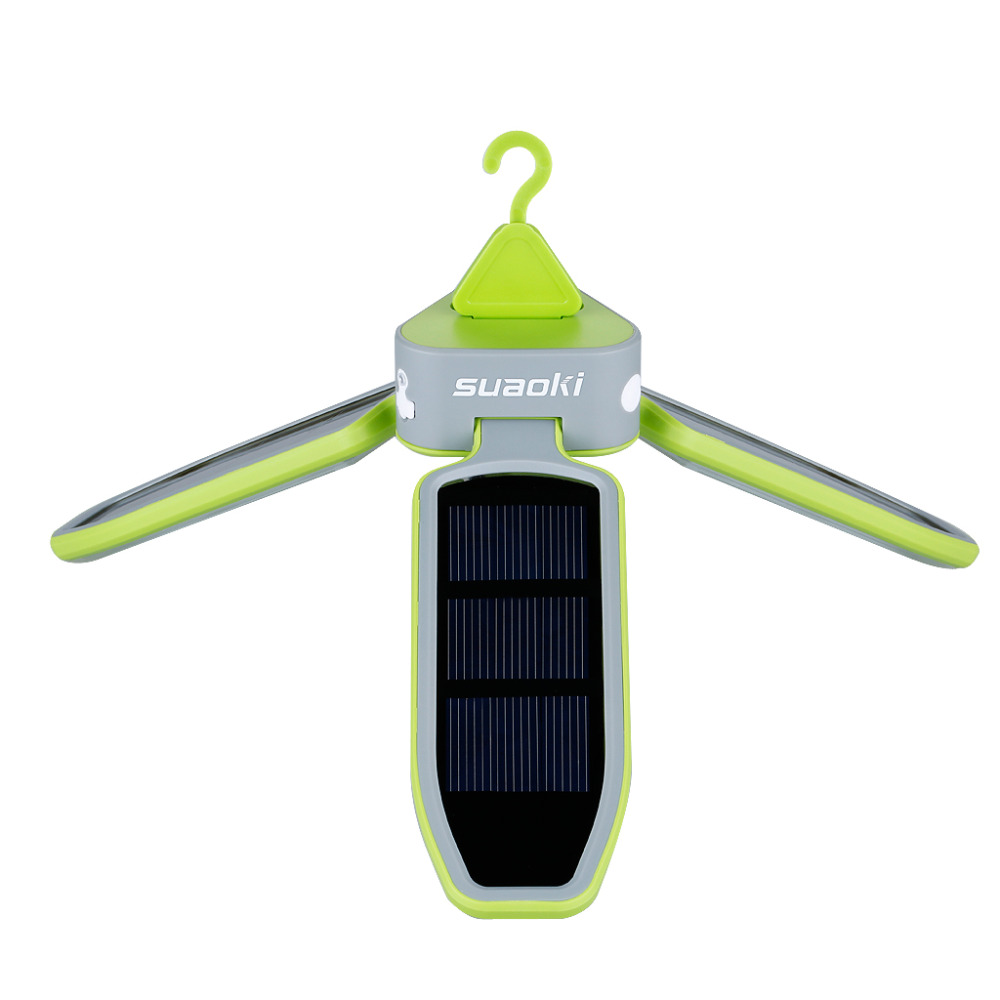 Image 4 - Suaoki Portable Collapsible LED Light USB &Solar Rechargeable Lantern Waterproof LED Light Lantern for Traveling/Camping/Hiking-in Solar Lamps from Lights & Lighting