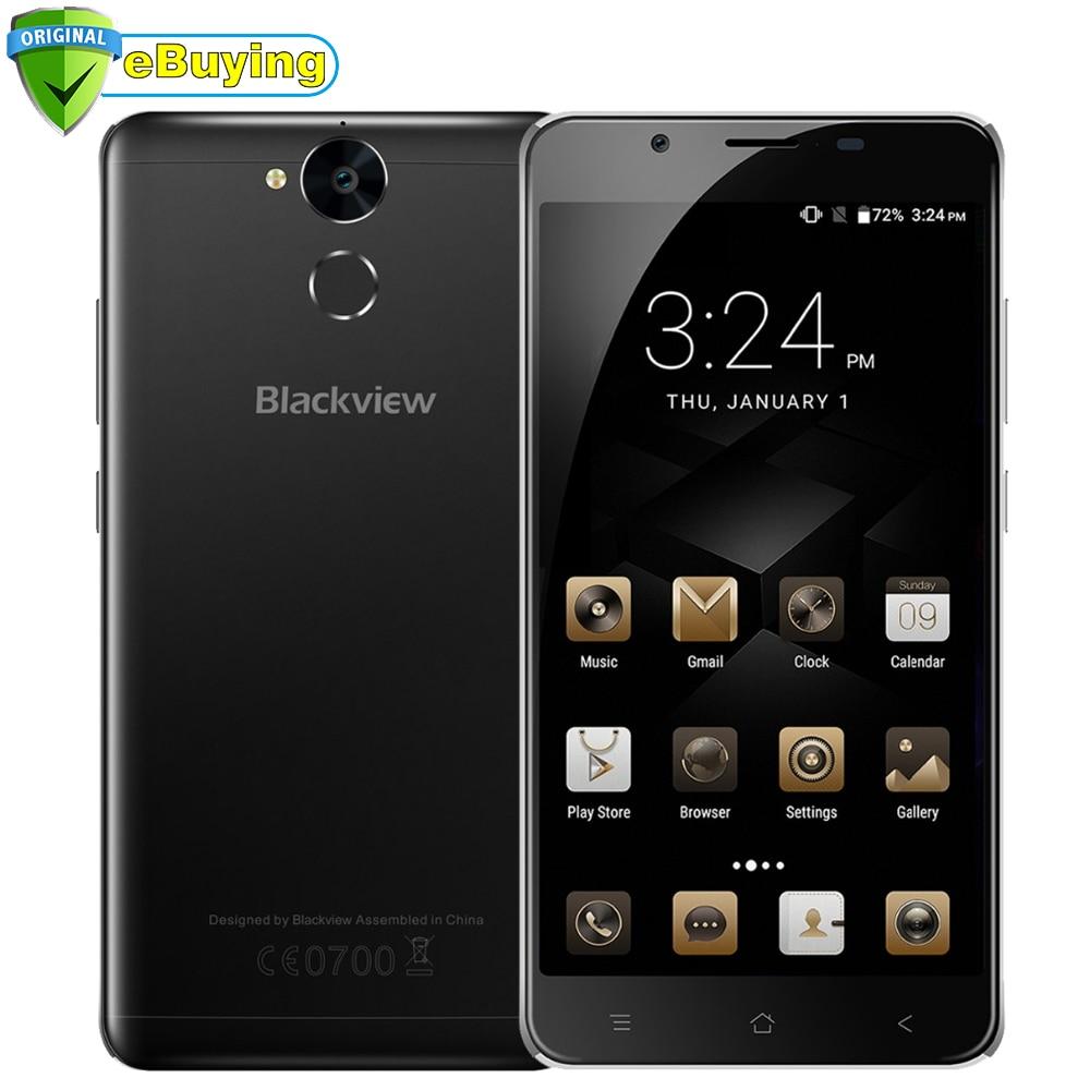 "Blackview P2 Lite Android6.0 Mobile Phone MTK6753 Octa Core 5.5"" FHD 3GB RAM 32GB ROM 13MP 5500mAh Fingerprint 4G Smartphone"