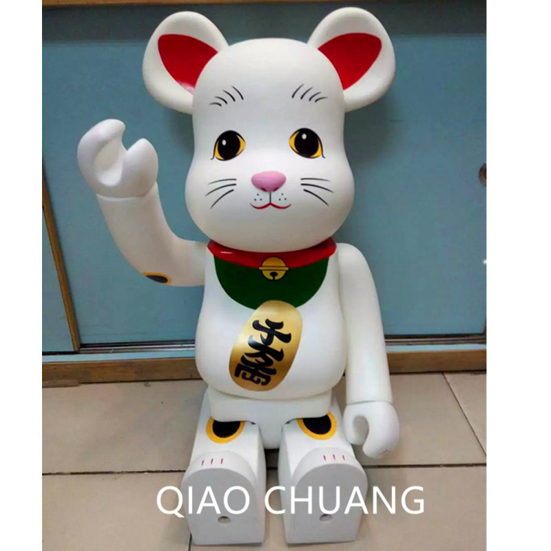 28 70CM 1000% Be@rBrick BFF OriginalFake Brian Street Art Lucky Cat Fashion Vinyl Action Figure Collectible Model Toy S283 hot selling oversize 1000% bearbrick luxury lady ch be rbrick medicom toy 52cm zy503