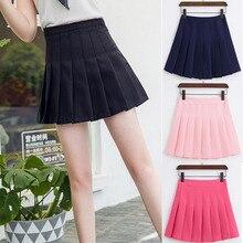Высокая талия теннисная юбка плиссированная юбка-шорты короткое школьное платье с внутренними шортами на молнии для подростковой команды бадминтон скутеры теннисные юбки