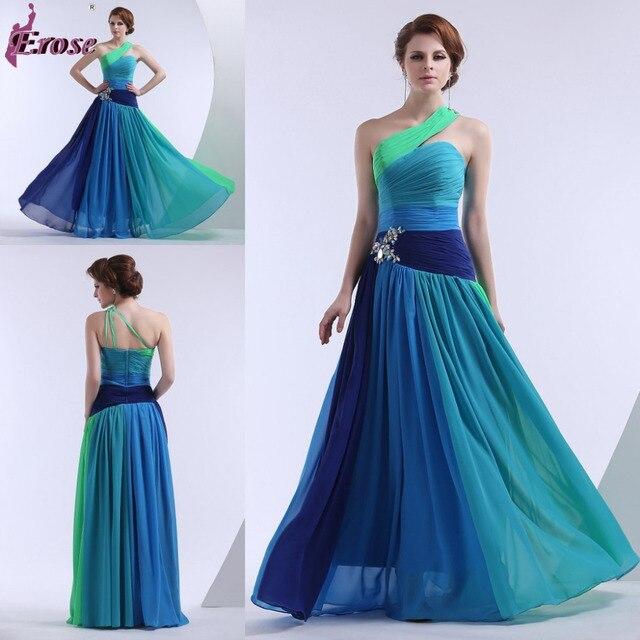 LEV 007 Latest Fashion One Shoulder Floot Length color combinations ...