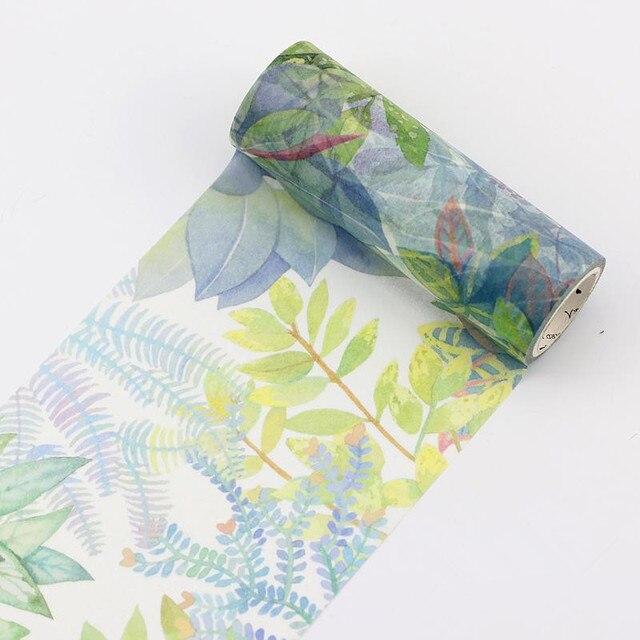 Тропические растения деревья васи ленты DIY декоративный Скрапбукинг малярный скотч клей Label Стикеры ленты Канцелярские