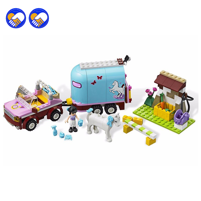 A toy A dream 2016 new Friends series the Emma's Horse Trailer Building Block Classic girl toys Compatible with Legoingly weir a the martian a novel