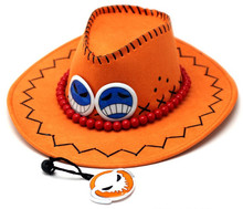 Cowboy Hat One Piece D Ace Fashion Cosplay Caps Gifts