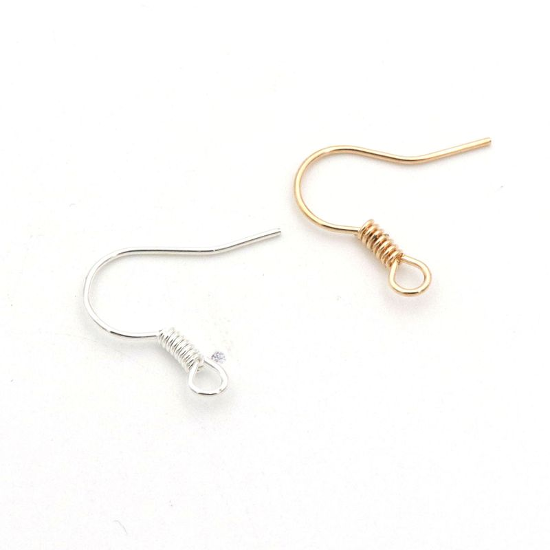 120Pcs Mixed Rose Gold Silver Color Earrings Hook Ear Wires Hooks For Diy jewelry Findings Components Ornament Accessories