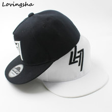 LOVINGSHA Boy Baseball Caps 3-8 Years Old Kid Snapback Caps Geometric Design High Quality Adjustable caps For Girl CC077(China)