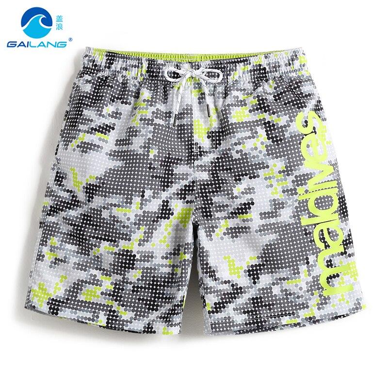 Hombres traje de baño pantalones cortos plavky forro sexy playa hawaiana bermudas surf homme Baño