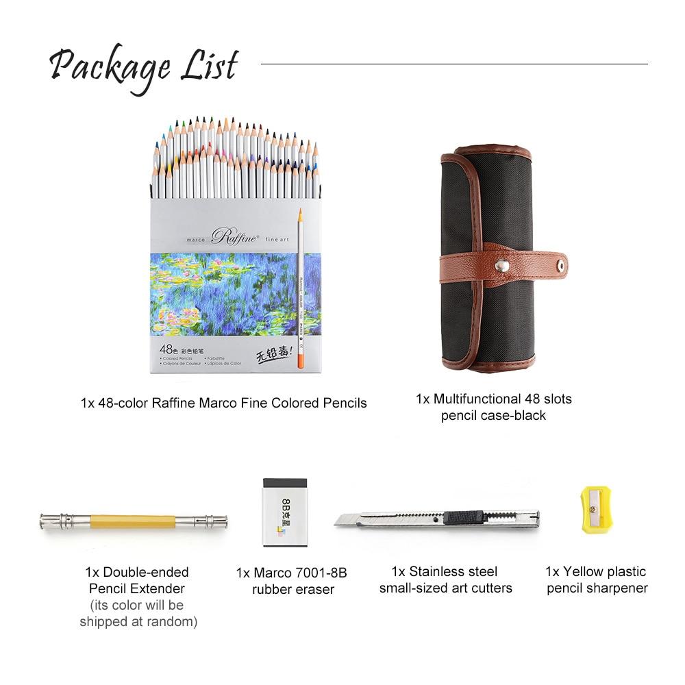 48 Art Coloured Pencils Eraser Pencil Extender Painting Tools