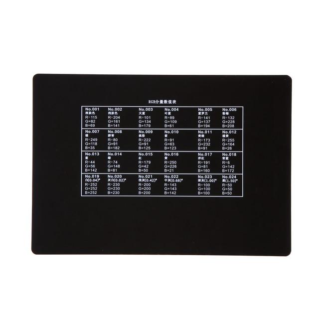 Andoer Professional 24 Color Card Test Balancing Checker Card Palette Board for Superior Digital Color Correction 5