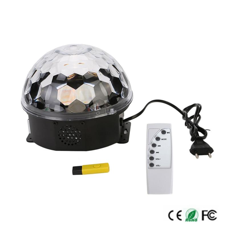 EU/US Plug Control Digital LED RGB Crystal Magic Ball Effect Light for Stage Party Disco DJ Bar Lighting Free ship