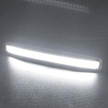 2 шт. Универсальный COB DRL светодио дный светодиодные дневные ходовые огни автомобиля лампы Внешние огни авто водостойкий автомобиль светодио дный Стайлинг светодиодные DRL лампы