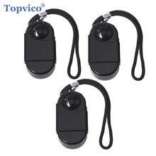Topvico 3 adet kamp seyahat taşınabilir Mini PIR kızılötesi hareket sensör dedektörü Alarm 120dB kablosuz ev güvenlik hırsız