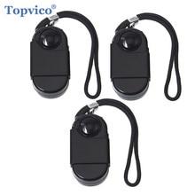 Topvico 3pcs Camping ท่องเที่ยวแบบพกพา Mini PIR Infrared Motion Sensor เครื่องตรวจจับ 120dB ไร้สาย Home Security Anti Theft
