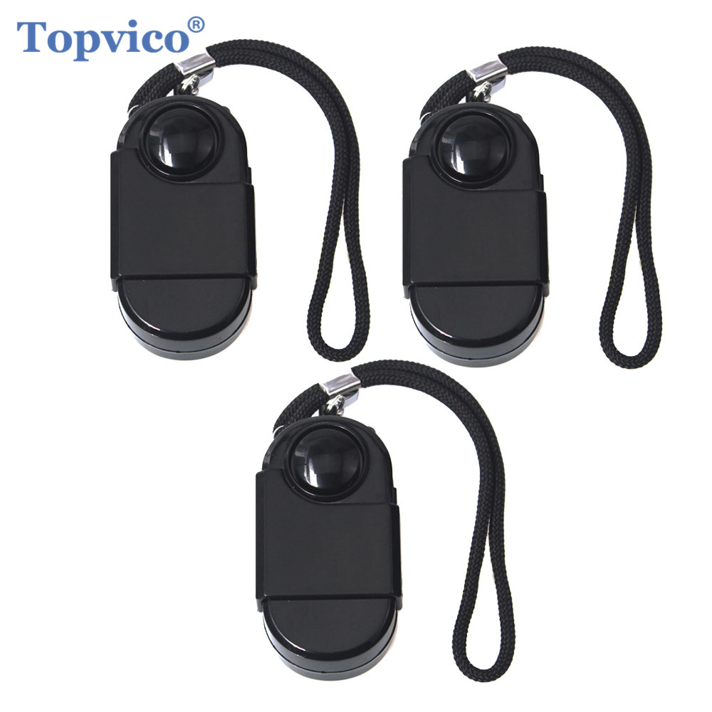 Topvico 3pcs Camping Travel Portable Mini PIR Infrared Motion Sensor Detector Alarm 120dB Wireless Home Security Anti-theft