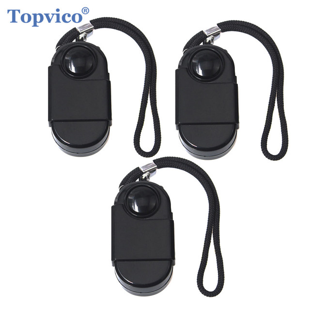 Topvico 3pcs Camping Travel Portable Mini PIR Infrared Motion Sensor Detector Alarm 120dB Wireless Home Security Anti theft