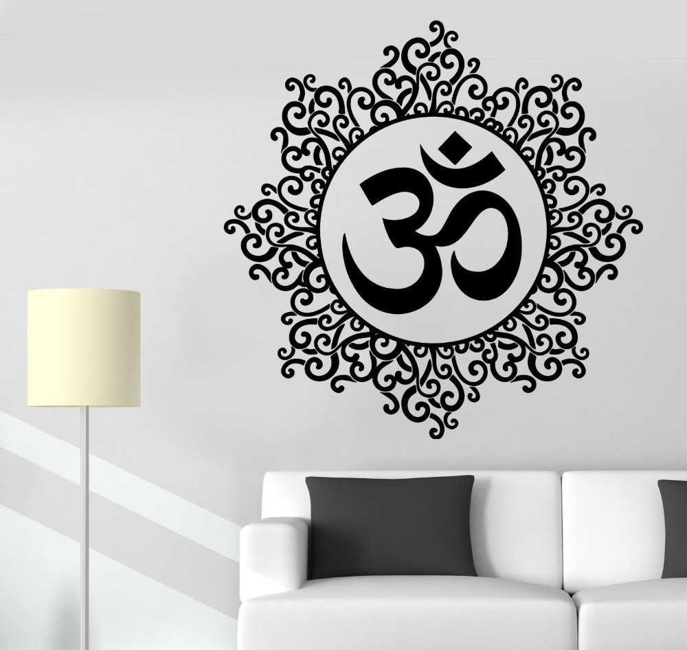 popular indian pattern buy cheap indian pattern lots from china yoga wall sticker om meditation indian spiritual zen lotus vinyl decal removable vinyl wall stickers home