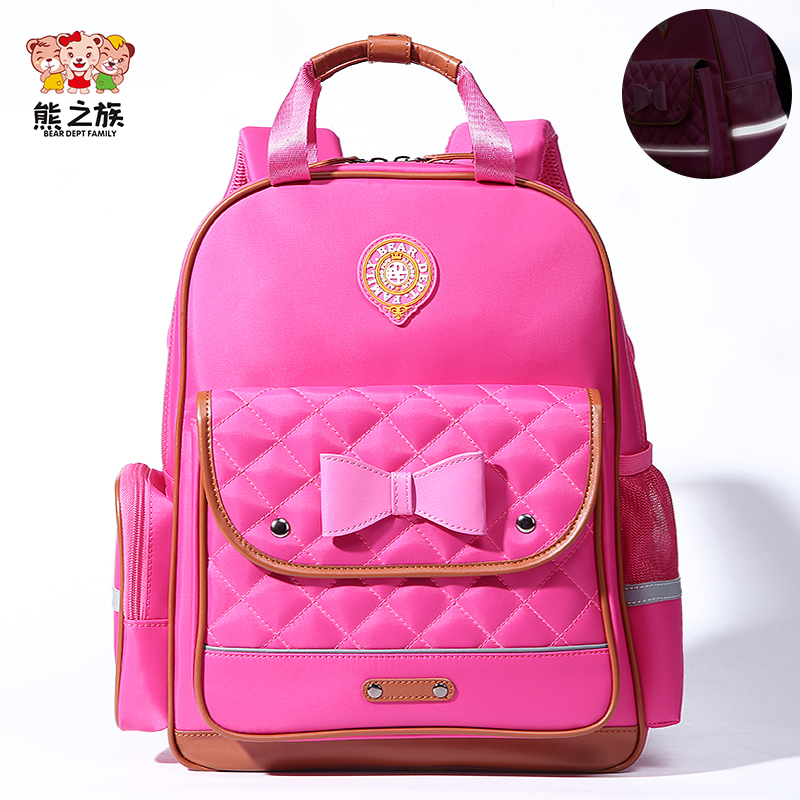 2018 Kids Backpack Orthopedic Breathable Childrens Backpacks Girls Bowtie School Bag Reflective Primary School Backpacks S/M/L