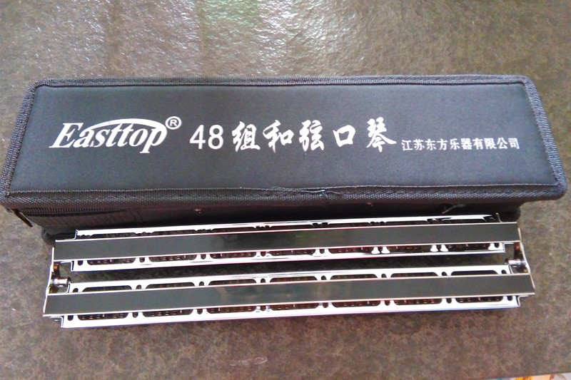 sênior 48 buracos acordes gaita profissional armônica buraco harpa musicinstrumento
