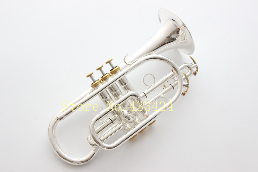 taiwan Bach Corneta Cornet silver plated B flat Bb professional trumpet Top musical instruments Brass trompete trumpeter bugle стоимость
