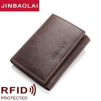Genuine Leather Wallet Men Man Male Small Portomonee Vallet With Coin Purse Pockets Slim Rfid Fashion Mini Walet carteira New