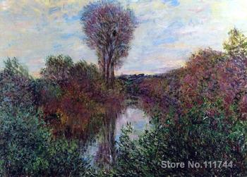bathroom art Small Branch of the Seine by Claude Monet paintings Home Decor Hand painted High quality