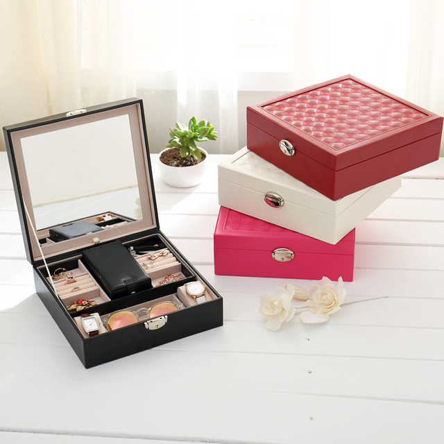 Jewelry make up display box Ring Necklace Earrings Cortical Box A