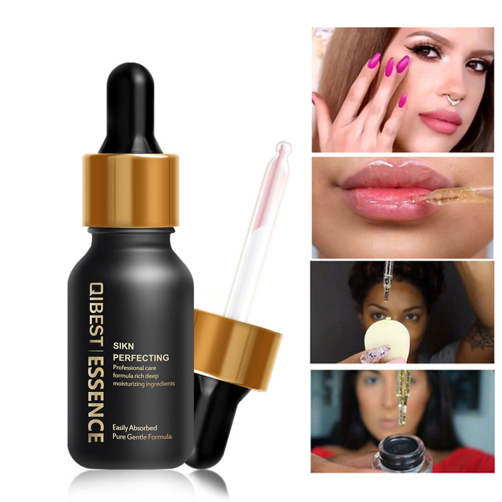 QIBEST 24k Rose Gold Pre-makeup Essence Oil Face Care Anti-aging Brighten Makeup Smooth Moisturizing Face Primer Foundation