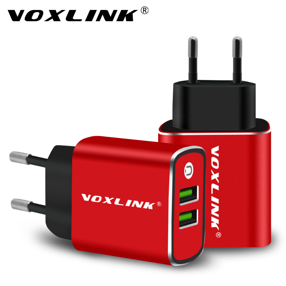 USB Wall Charger,VOXLINK 5V3.1A Universal Portable Dual Ports USB Travel Wall Charger Adapter EU Plug for iPhone iPad Samsung