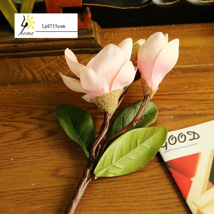 Free Shipping Pretty <font><b>elegant</b></font> <font><b>home</b></font> <font><b>decoration</b></font> high simulation simulation flower spur magnolia flower single branch