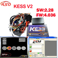 Kit de Sintonía KESS V2 OBD2 Kess Nuevo v2.28 FW4.036 SW2.28 software ecm titanium ecu herramienta de adaptación de la viruta + envío libre nave