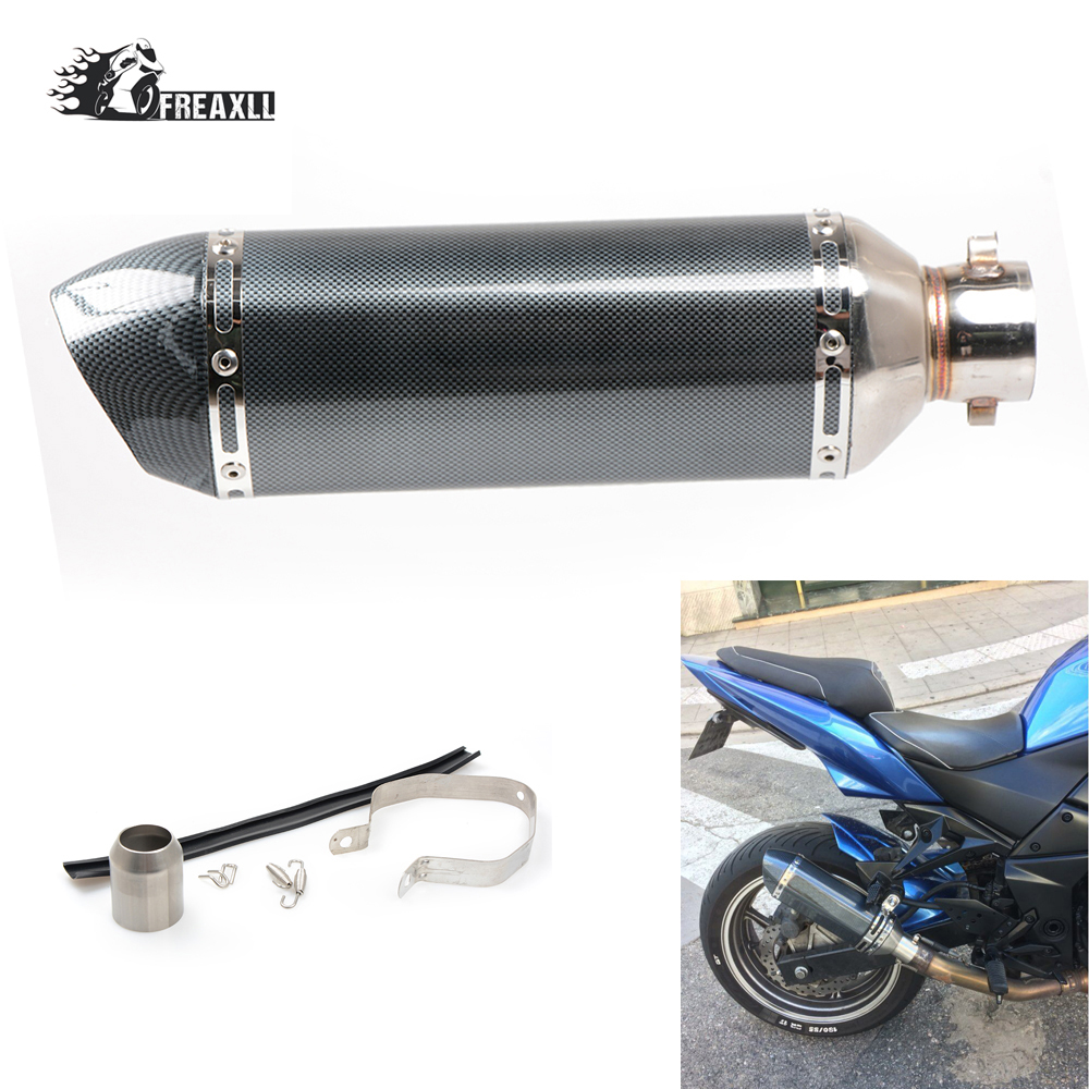 Universal motorcycle racing Exhaust Modified Moto Escape Muffle pipe fit most motorcycle ATV Scooter For BMW S 1000 R RR Honda