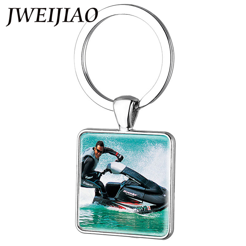 US $1 02 49% OFF|JWEIJIAO Water Sports Boat And Jet Ski Key Ring Keychain  Man's Favorite Sport High Speed Speedboat Key Chain Jewelry FQ55-in Key