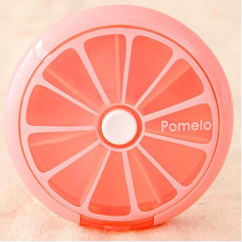 New 7 Grids Mini Portable Plastic S Storage Box Candy Orange Z Holder Gift Free Shipping S566 In Bo Bins From Home