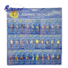 30 Pcs/set Fishing Bait Metal Spoon Bait Kit Wobblers Spinner Spoon Lures Fishing Tackle Hook Treble Spinner Crankbaits Pesca