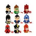 Best Gift superhero avenger/Superman/Batman/Spider Man pendrive Usb 2.0 Usb flash drive 8GB 16GB 32GB 64GB cartoon pen drive
