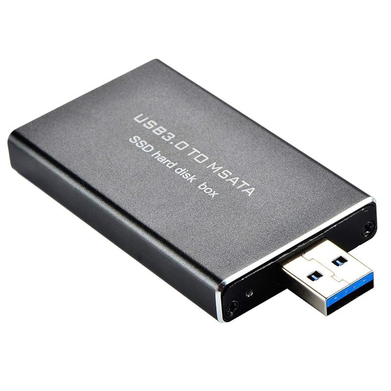 Usb3.0 To Msata Mini-Sata 30Mm X 50Mm Full Size Ssd Portable Hard Disk Driver External Enclosure