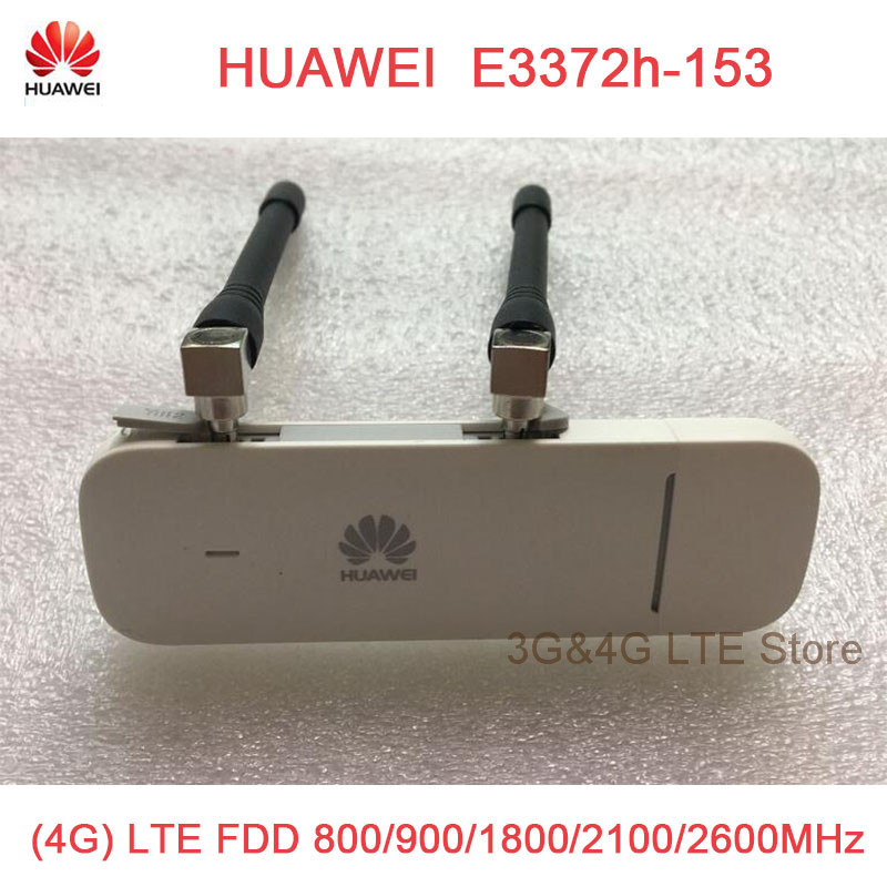 Huawei Unlocked E3372 E3372h-153 plus antenna 150Mpbs 4G LTE USB Dongle modem