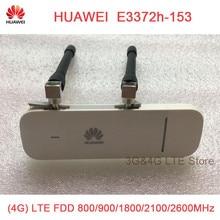 Разблокированный HUAWEI E3372 E3372h-153 plus Антенна 150Mpbs 4G LTE USB Dongle модем