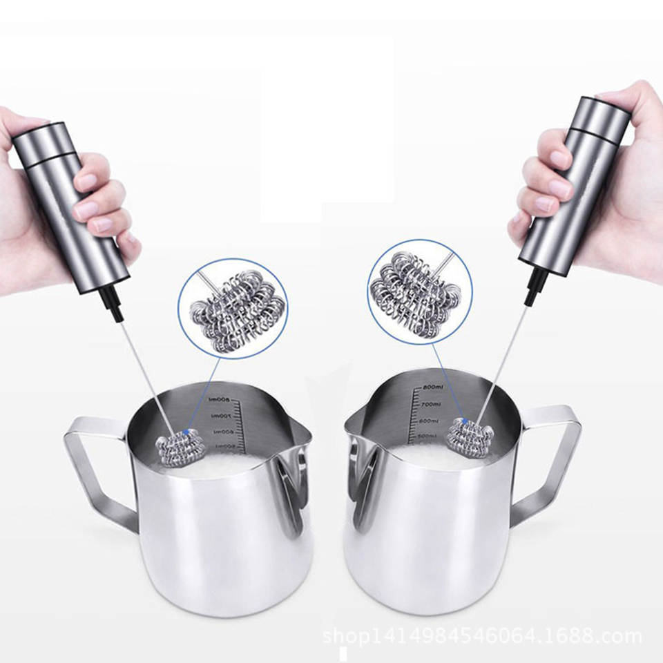 Transhome Stainless Steel Electric Handheld Double Triple Spring Whisk Head Milk Head Egg Beater Coffee Kitchen Tools