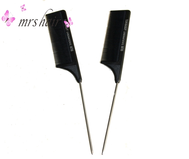 Black Salon Hair Brush Comb For Hairdressing Salon Styling Clamps