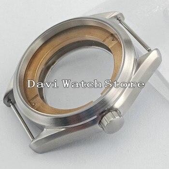 41 мм Серебряный матовый корпус для часов, подходит для ETA 2836, Mingzhu/DG 2813/3804, Miyota 8205/8215 P873